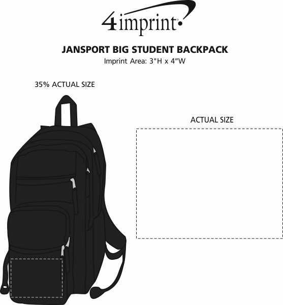 Imprint Area of JanSport Big Student Backpack