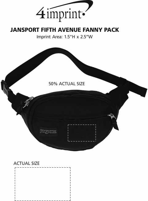 Imprint Area of JanSport Fifth Avenue Fanny Pack