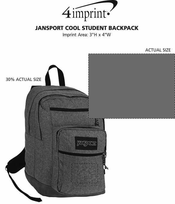 Imprint Area of JanSport Cool Student Backpack