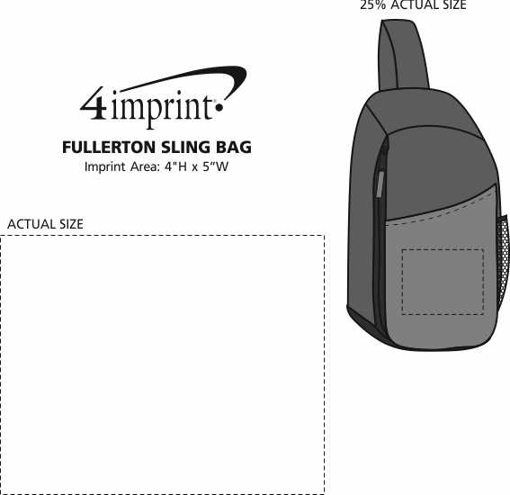 Imprint Area of Fullerton Sling Bag
