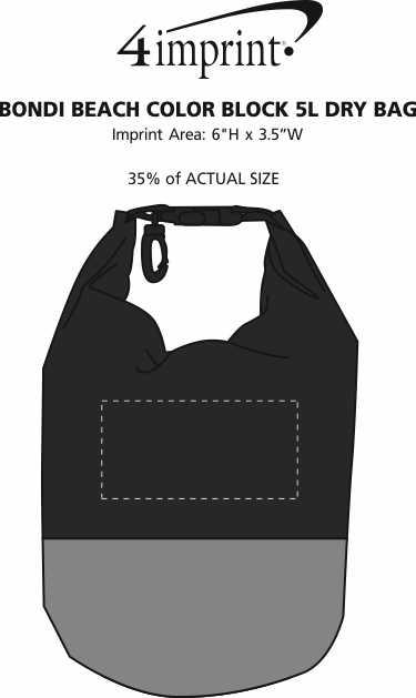 Imprint Area of Bondi Beach Colorblock 5L Dry Bag