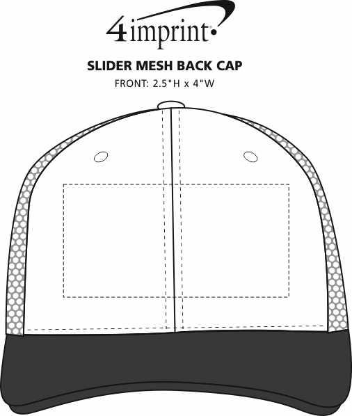 Imprint Area of Slider Mesh Back Cap