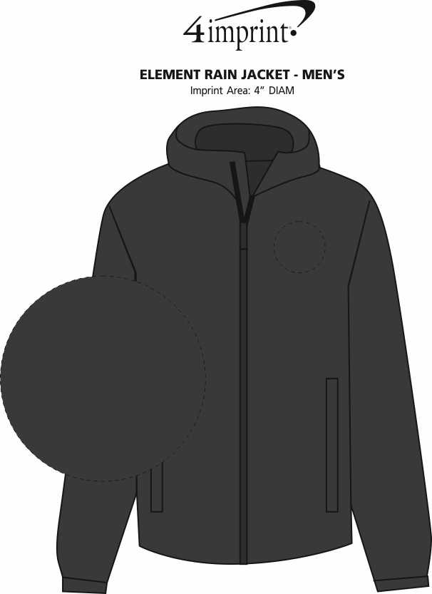 Imprint Area of Element Rain Jacket - Men's