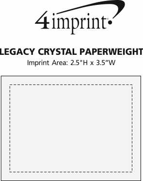 Imprint Area of Legacy Crystal Paperweight