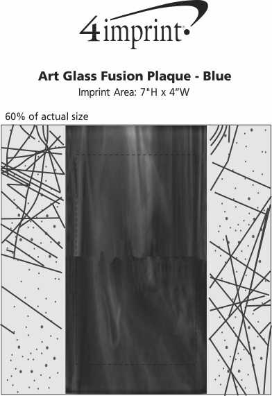 Imprint Area of Art Glass Fusion Plaque - Blue