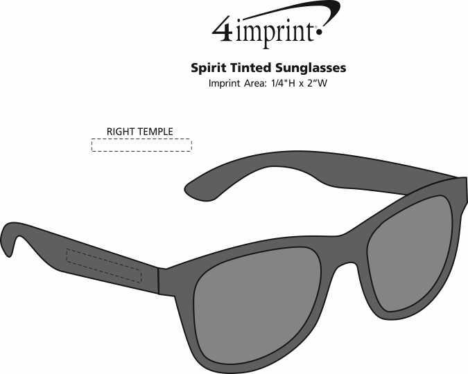 Imprint Area of Spirit Tinted Sunglasses