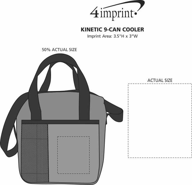 Imprint Area of Kinetic 9-Can Cooler