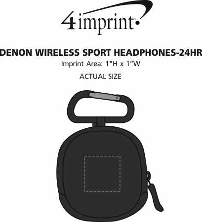 Imprint Area of Denon Wireless Sport Headphones - 24 hr