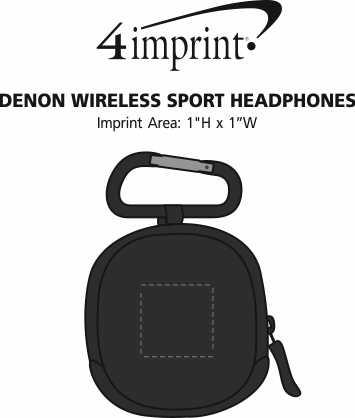 Imprint Area of Denon Wireless Sport Headphones
