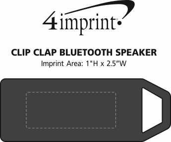 Imprint Area of Clip Clap Bluetooth Speaker