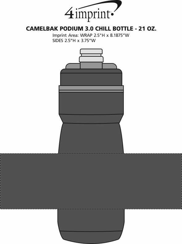 Imprint Area of CamelBak Podium 3.0 Chill Bottle - 21 oz.