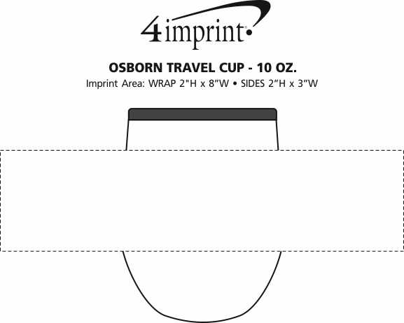 Imprint Area of Osborn Travel Cup - 10 oz.
