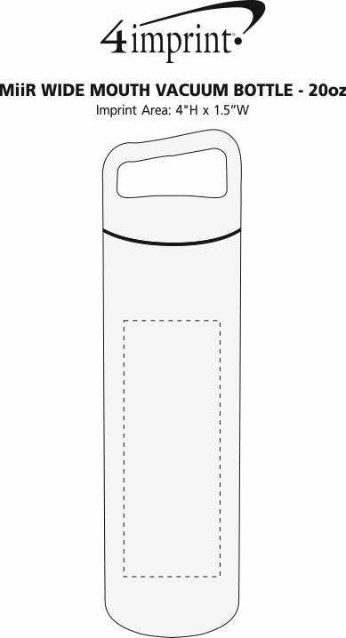 Imprint Area of MiiR Wide Mouth Vacuum Bottle - 20 oz.