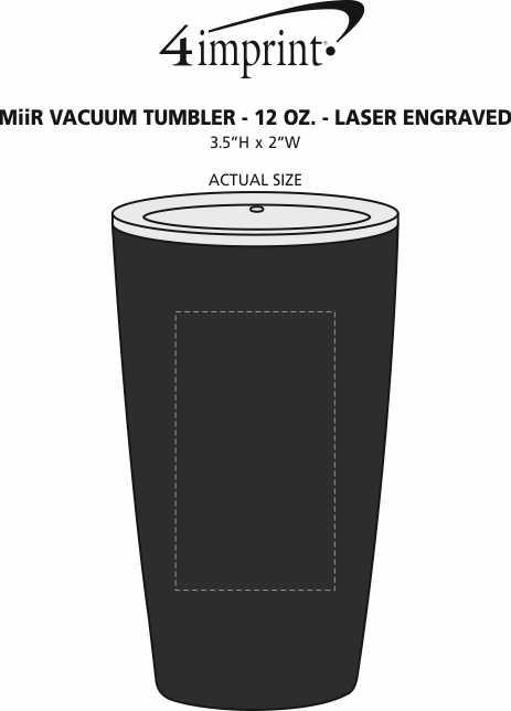 Imprint Area of MiiR Vacuum Tumbler - 12 oz. - Laser Engraved