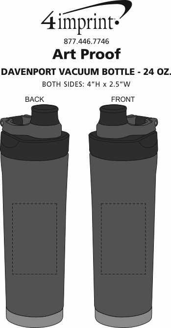 Imprint Area of Davenport Vacuum Bottle - 24 oz.