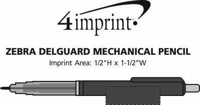Imprint Area of Zebra DelGuard Mechanical Pencil