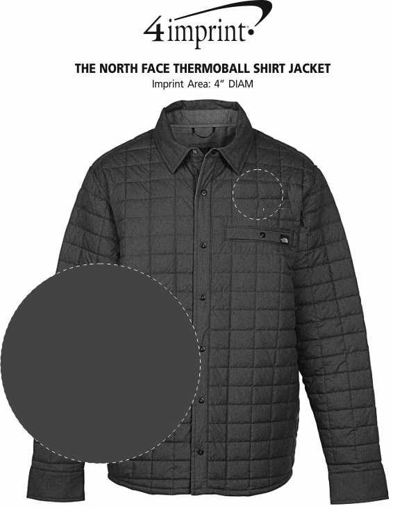 Imprint Area of The North Face Thermoball Shirt Jacket