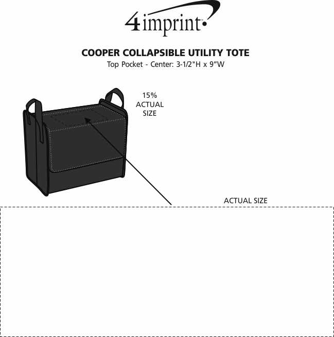 Imprint Area of Cooper Collapsible Utility Tote