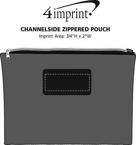 Imprint Area of Channelside Zippered Pouch