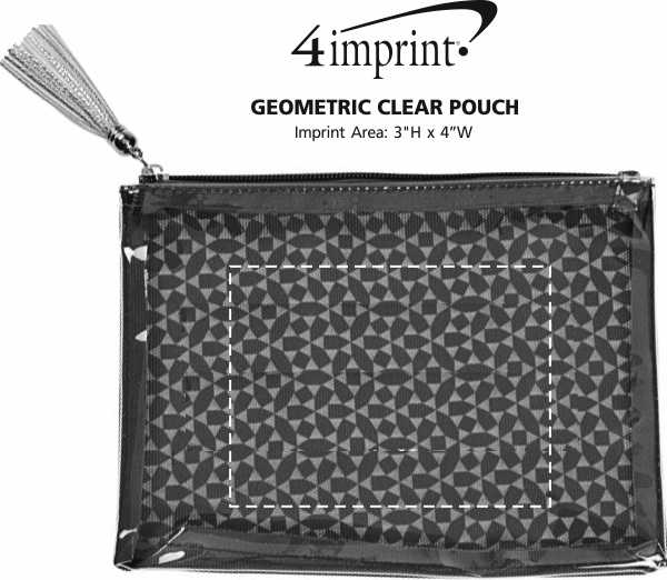 Imprint Area of Geometric Clear Pouch