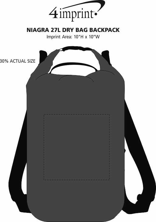 Imprint Area of Niagra 27L Dry Bag Backpack