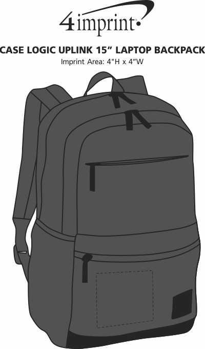 """Imprint Area of Case Logic Uplink 15"""" Laptop Backpack"""