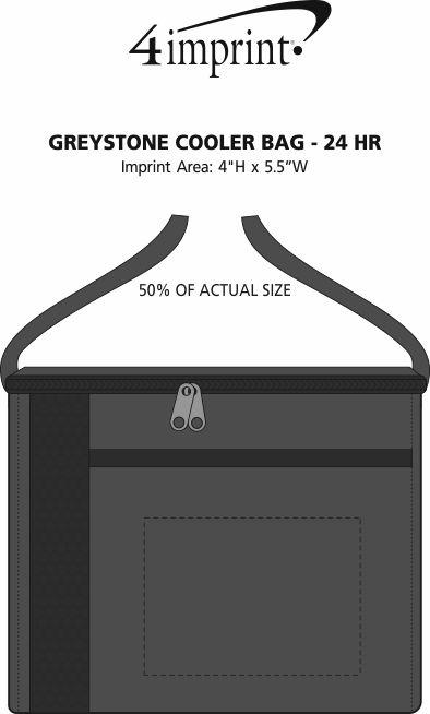 Imprint Area of Greystone Cooler Bag - 24 hr