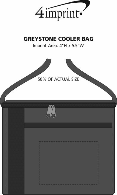 Imprint Area of Greystone Cooler Bag