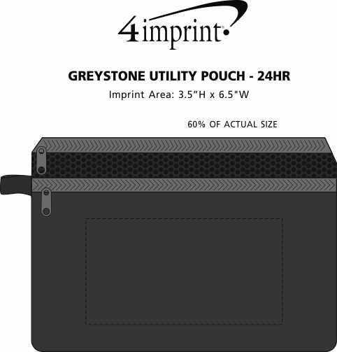 Imprint Area of Greystone Utility Pouch - 24 hr