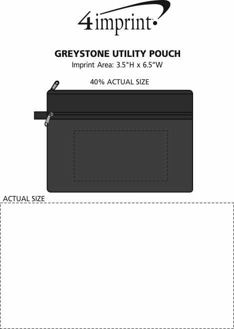 Imprint Area of Greystone Utility Pouch
