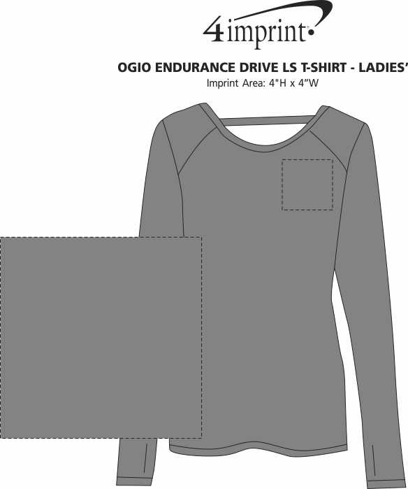 Imprint Area of OGIO Endurance Drive LS T-Shirt - Ladies'