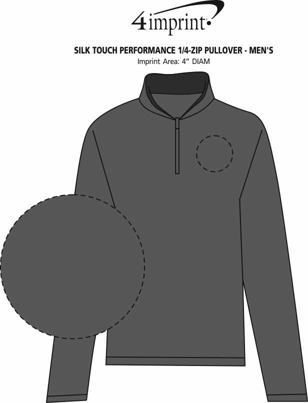 Imprint Area of Silk Touch Performance 1/4-Zip Pullover - Men's