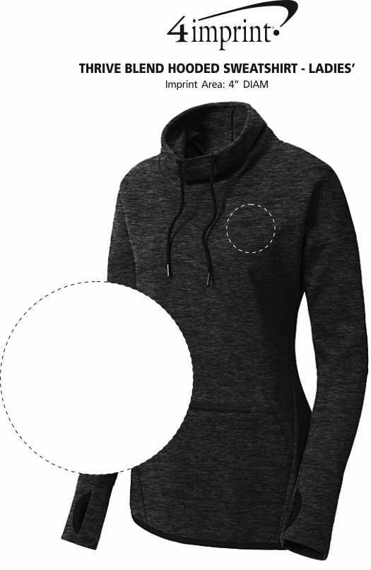 Imprint Area of Thrive Blend Cowl Neck Sweatshirt - Ladies'