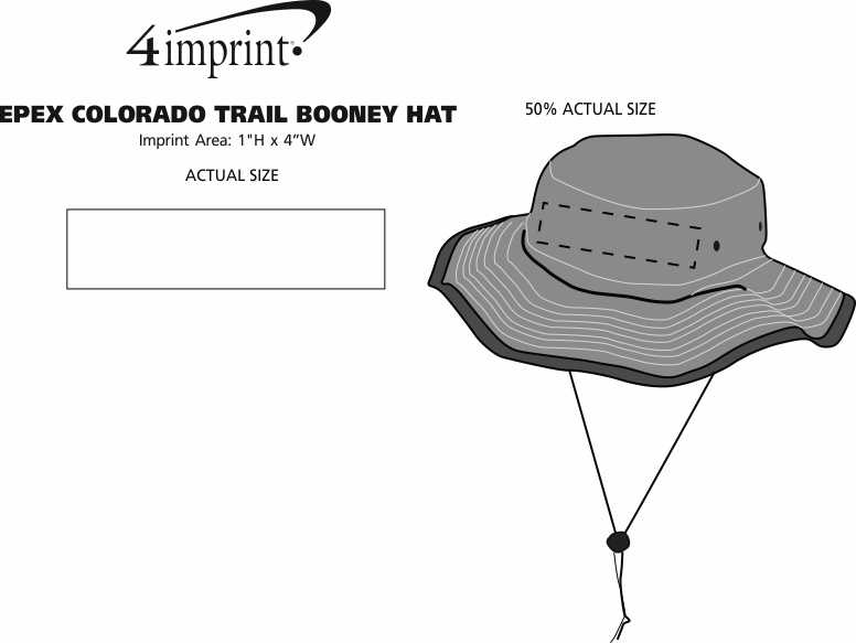 Imprint Area of EPEX Colorado Trail Booney Hat