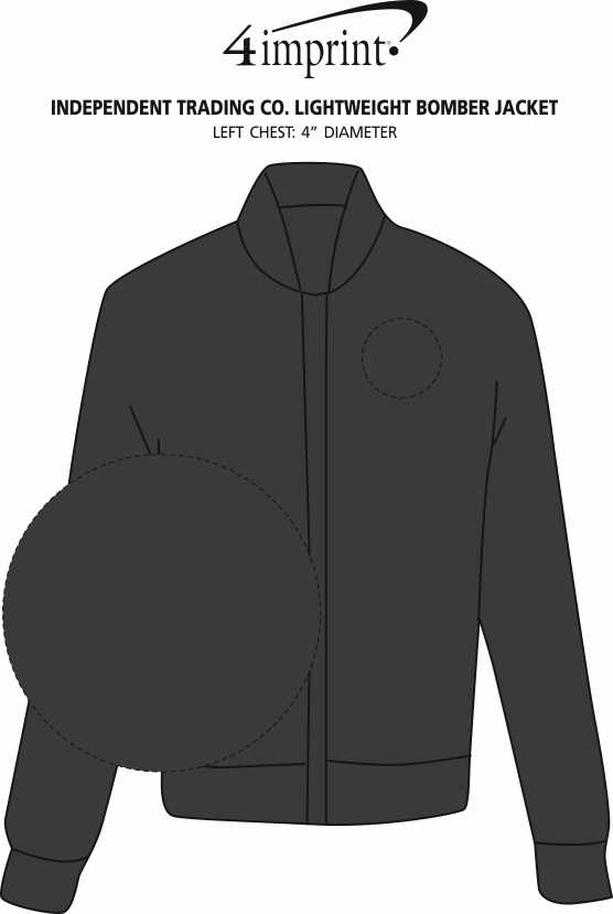 Imprint Area of Independent Trading Co. Lightweight Bomber Jacket