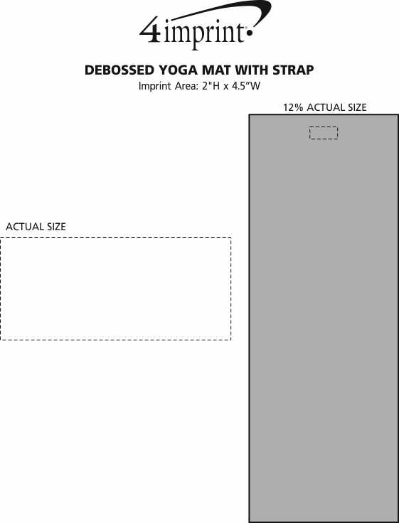 Imprint Area of Debossed Yoga Mat with Strap