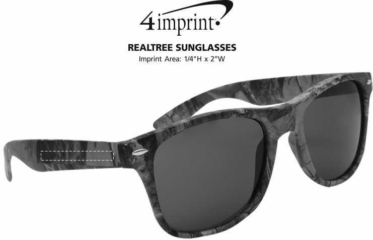 Imprint Area of Realtree Sunglasses