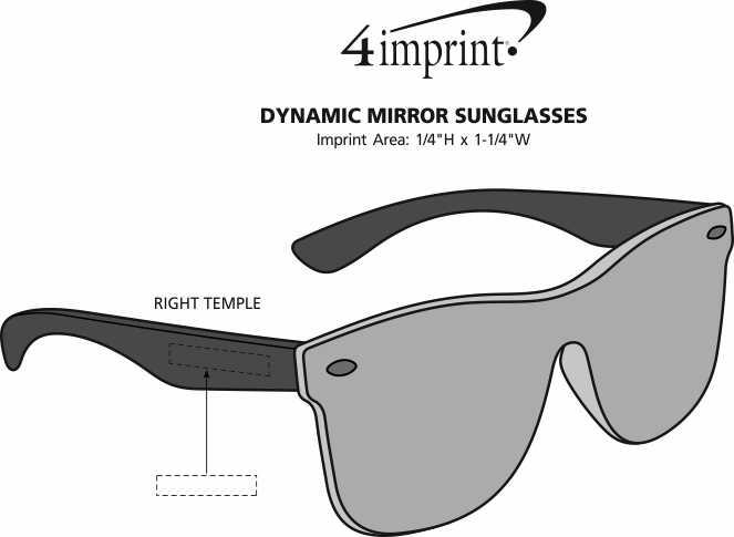 Imprint Area of Dynamic Mirror Sunglasses