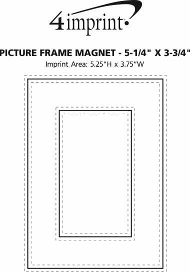 """Imprint Area of Picture Frame Magnet - 5-1/4"""" x 3-3/4"""""""