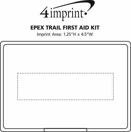 Imprint Area of EPEX Trail First Aid Kit