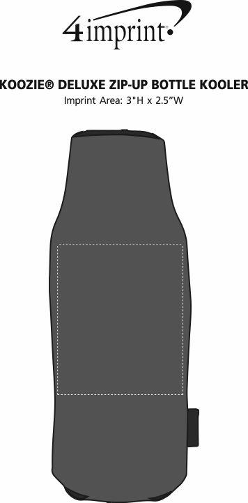 Imprint Area of Koozie® Deluxe Zip-Up Bottle Kooler