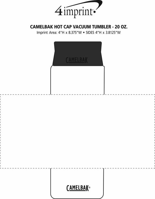 Imprint Area of CamelBak Hot Cap Vacuum Tumbler - 20 oz.