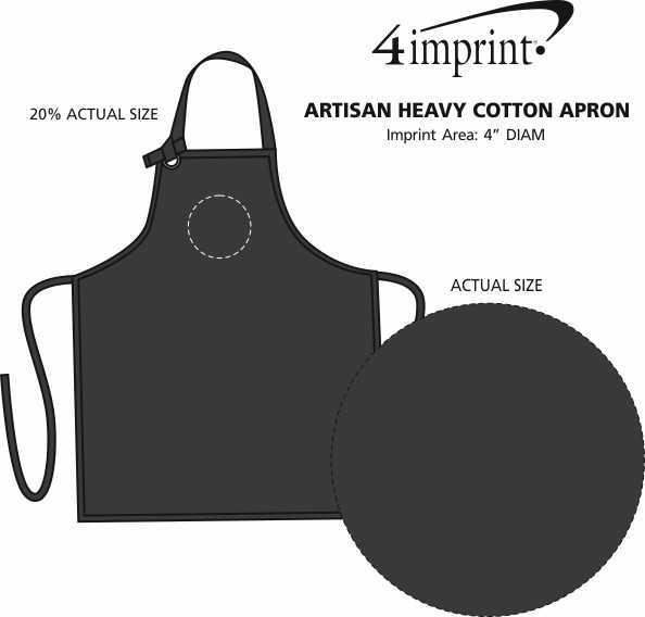 Imprint Area of Artisan Heavy Cotton Apron