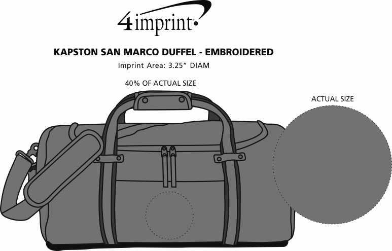 Imprint Area of Kapston San Marco Duffel - Embroidered