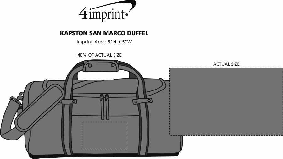 Imprint Area of Kapston San Marco Duffel