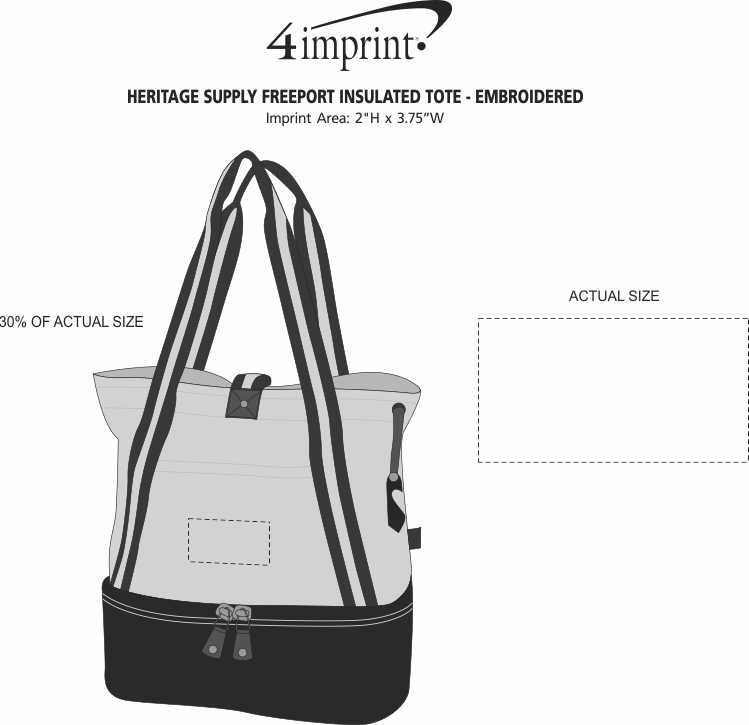 Imprint Area of Heritage Supply Freeport Insulated Tote - Embroidered