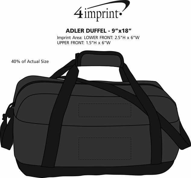 "Imprint Area of Alder Duffel - 9"" x 18"""