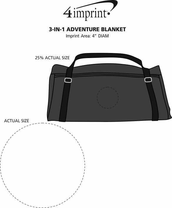 Imprint Area of 3-in-1 Adventure Blanket