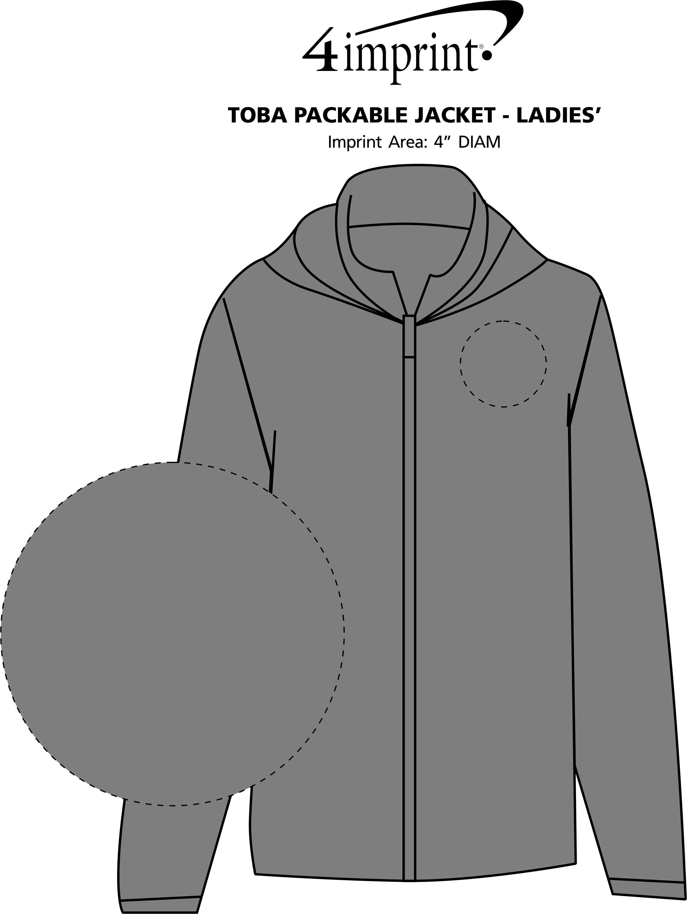 Imprint Area of Toba Packable Jacket - Ladies'