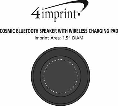Imprint Area of Cosmic Bluetooth Speaker with Wireless Charging Pad